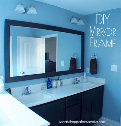 bathroom mirrors with frames diy bathroom mirror frame with molding the happier homemaker