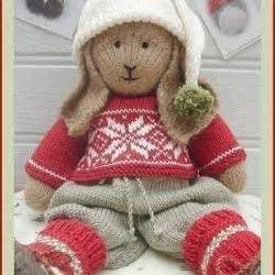Bo Rabbit Knitting Pattern Lapland Visitors Part 1