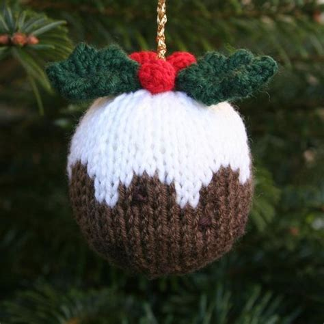 knitted ornaments patterns free free knitting pattern for pudding ornament