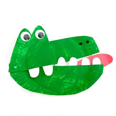 crocodile craft for paper plate crocodile craftbnb