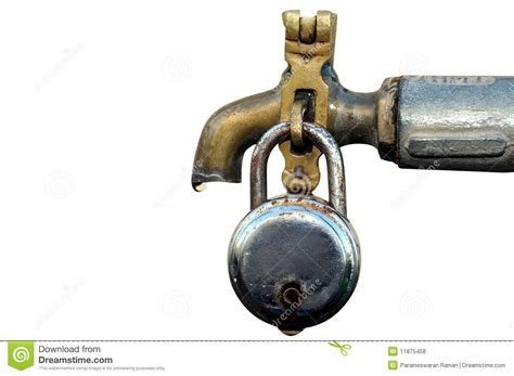Image Of Water Faucet by Water Tap With Lock Royalty Free Stock Photos Image
