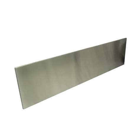 stainless steel backsplash lowes shop dacor 9 in x 48 in stainless steel kitchen backsplash