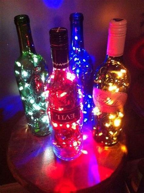 how to make a bottle l with lights wine bottle l made with lights drill a