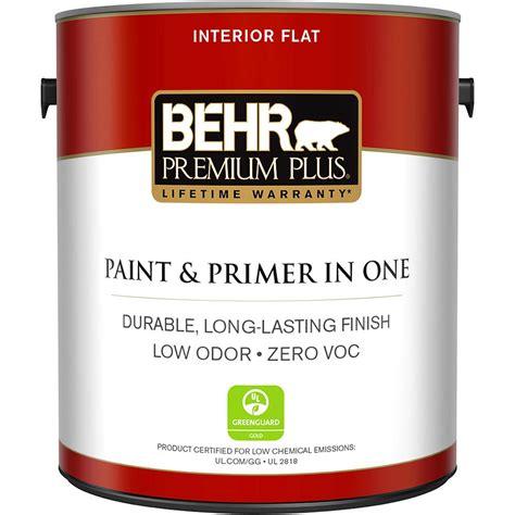 behr paint colors interior with primer behr premium plus 1 gal ultra white flat zero voc