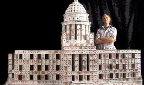 how to make a house out of cards amazing card stacking sculptures by bryan berg a guinness