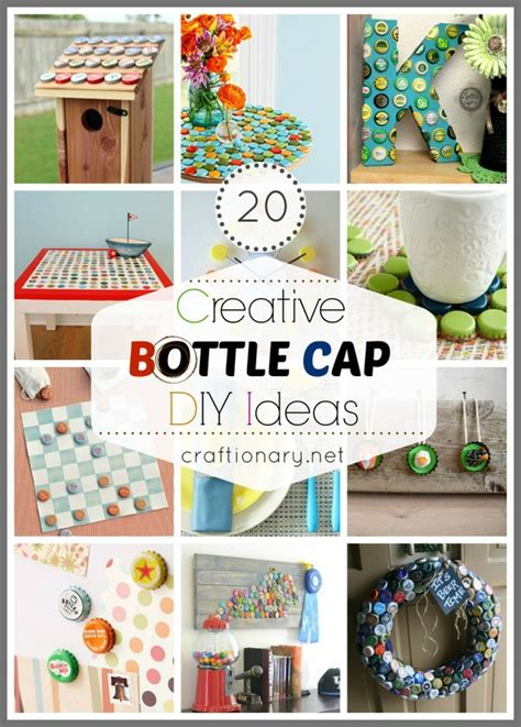 creative craft projects 20 creative bottle cap ideas recycle crafts bottle cap