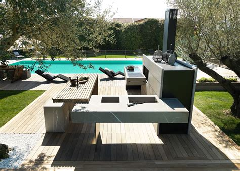outdoors kitchen bring the inside outside with the modulnova outdoor kitchen