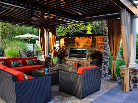 backyard rooms ideas outdoor patio with fireplace