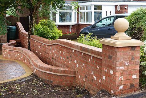brick walls for gardens brick wall installers birmingham brickwork and garden walls