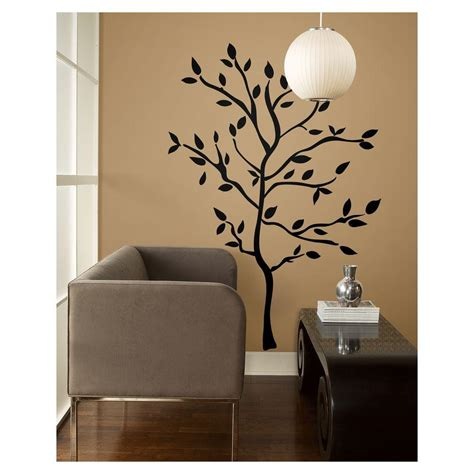 branches wall stickers 19 in tree branches peel and stick wall decals rmk1317gm