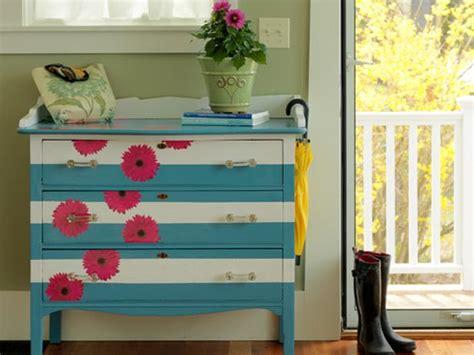 diy decoupage dresser how to make a striped and floral dresser how tos diy