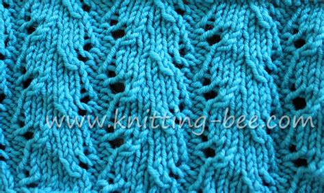knitting pattern library an easy and free ribbed lace knitting stitch you ll