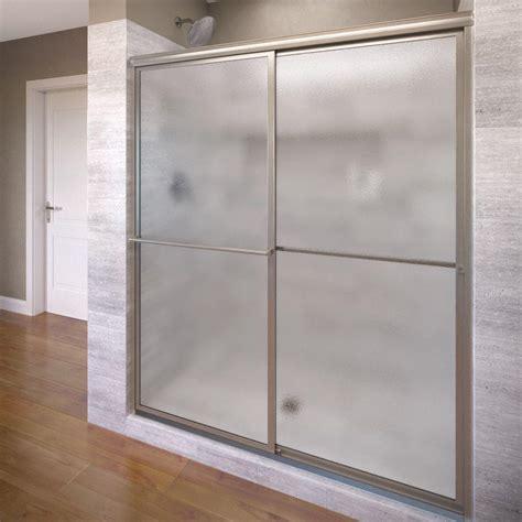 home depot shower doors sliding basco deluxe 51 3 8 in x 68 in framed sliding shower