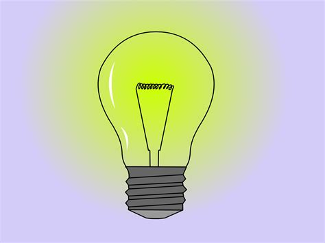drawing of lights how to draw a light bulb 14 steps with pictures wikihow
