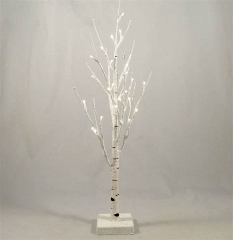 white twig tree with lights white twig tree