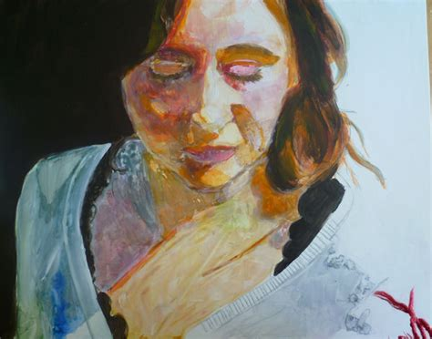 acrylic paint on yupo painting a portrait with acrylic on yupo paper