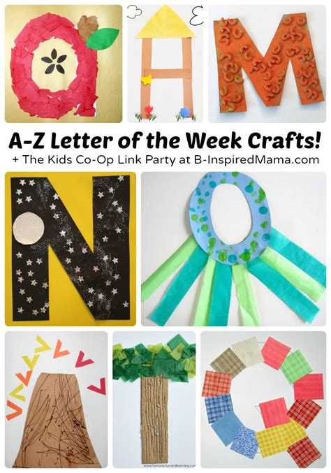 alphabet crafts for a to z letter of the week crafts for preschoolers