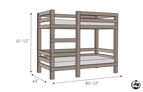 dimensions of bunk beds 2x4 bunk bed 187 rogue engineer