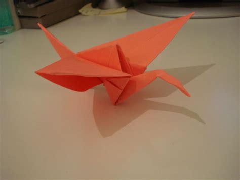 flying crane origami flapping origami crane