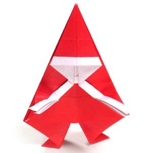 simple origami santa claus how to make a simple origami santa claus page 1