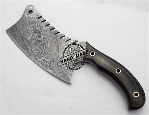 custom kitchen knives for sale new damascus chef s cleaver knife custom handmade damascus