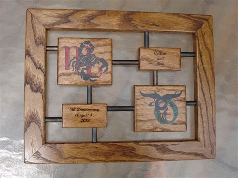 presents made of wood custom anniversary gift wood and iron by awl woodworks