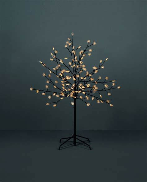 5ft bright white led lights snowflake artificial tree