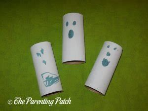 white craft paper rolls ghost toilet paper roll craft parenting patch