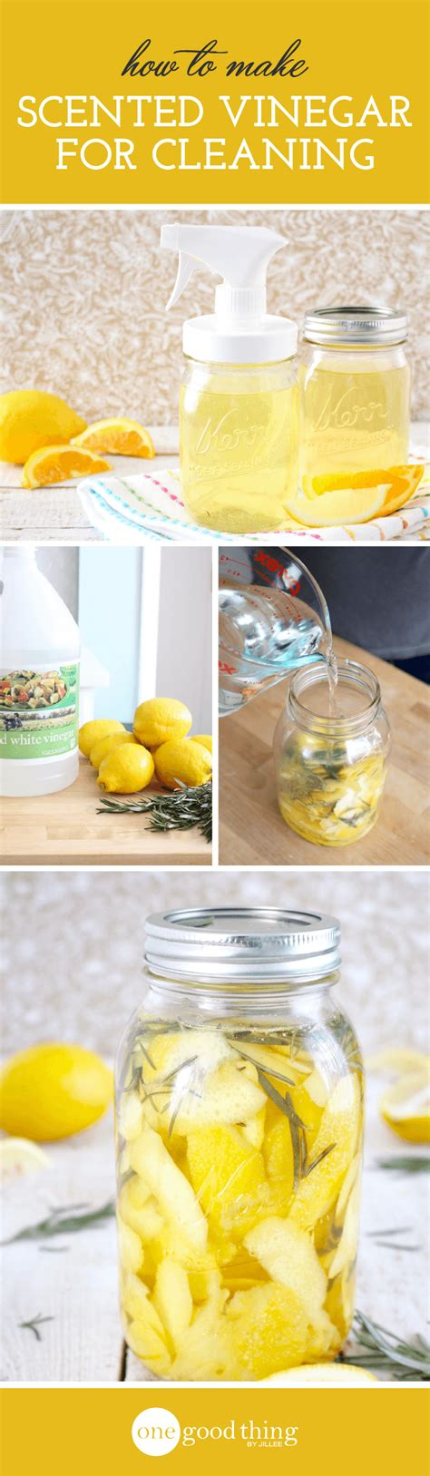 how to make scented how to make scented cleaning vinegar one thing by