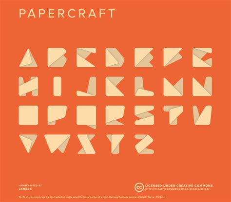 origami font this is made to look simple and works much type