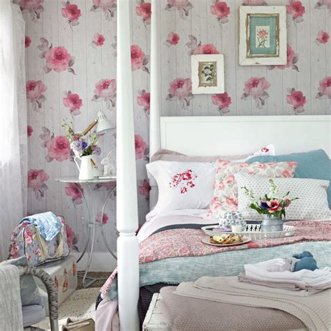 shabby chic bedroom wallpaper shabby chic bedrooms ideal home