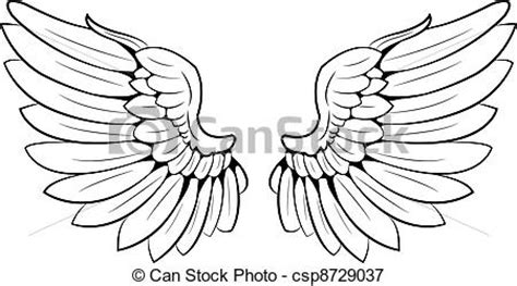 vectors illustration of wings a pair of wings csp8729037