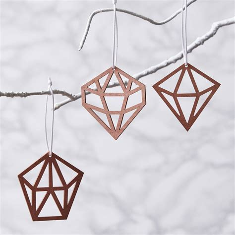 copper decorations geometric copper decorations by