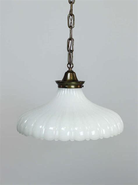 light fixture glass milk glass pendant light fixture at 1stdibs