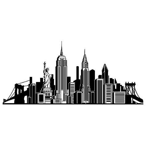 new york skyline wall sticker wall sticker icons skyline nyc muraldecal