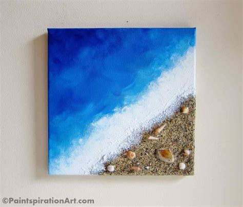 can you sand acrylic paint on canvas painting decor with real sand and seashells