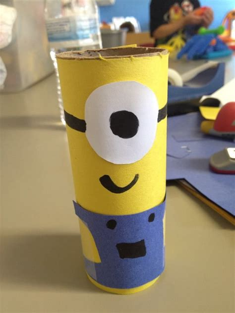 minion toilet paper roll craft toilet paper roll despicable me minion crafts 4 school