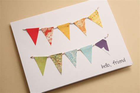 paper greeting cards the creative place diy paper bunting greeting card