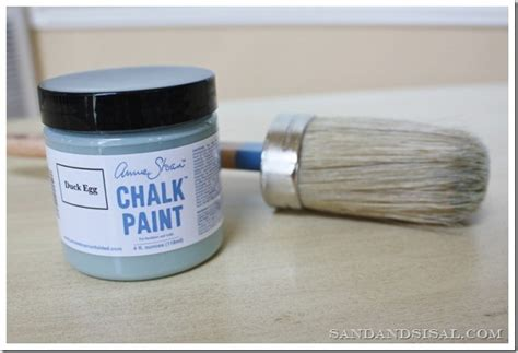 chalk paint duck egg painting with chalk paint sand and sisal
