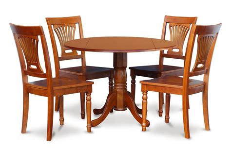 wood table and chairs 5pc 42 quot dinette dining table with 4 plain wood seat