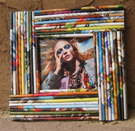 magazine paper crafts a look at paper reed frames totally green crafts