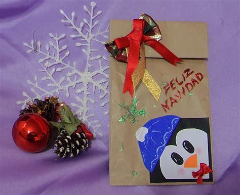 decoracion navide as decorar bolsas de papel para navidad con manualidades
