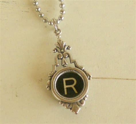how to make typewriter key jewelry typewriter key necklace vintage initial jewelry by