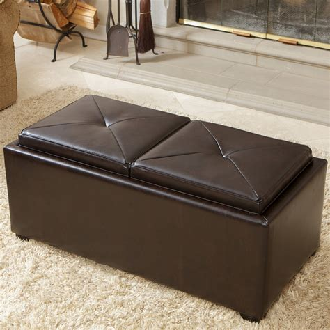 storage ottoman coffee table with trays coffee table ottoman coffee table tray top ottoman offee