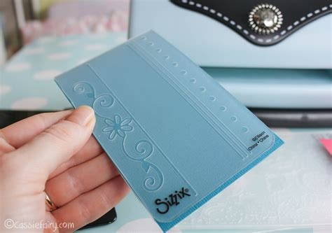 embossing kits card card craft ideas including sizzix embossing kit