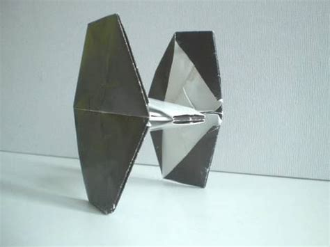 origami tie fighter how to make an easy origami wars tie fighter hd
