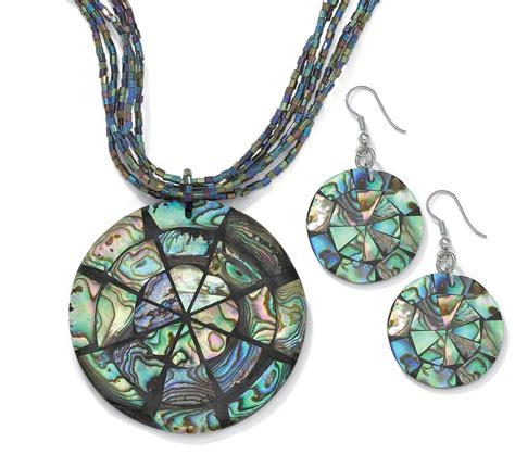 how to make abalone jewelry abalone disk jewelry set abalone intensity