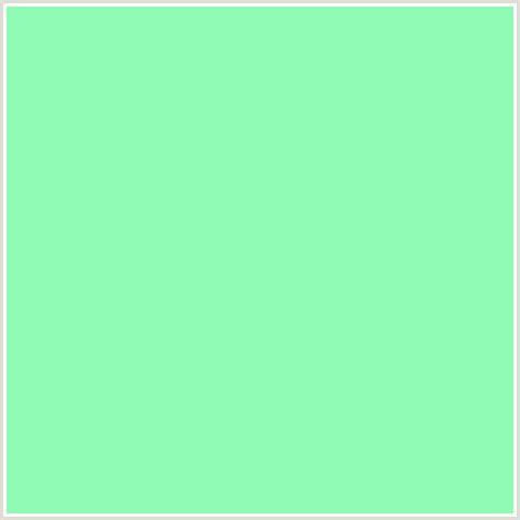 minty green 8efab4 hex color rgb 142 250 180 aquamarine green