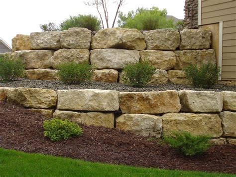 large landscaping boulders retaining wall rock landscape supply landscaping