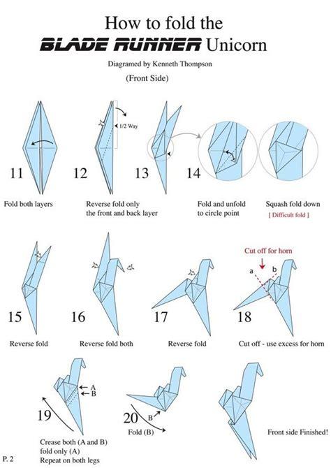 origami blade origami blade runner unicorn